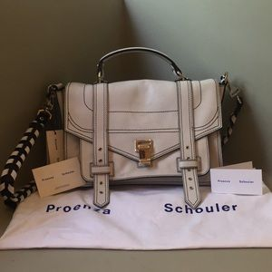 NEW Proenza Schouler White PS1+ Medium Bag Satchel